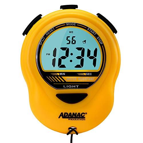 Marathon ST083013YE Adanac Glow cronometro timer digitale con display extra grande e cifre–Batteria inclusa (giallo)