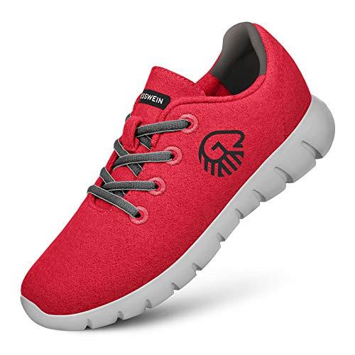 Giesswein GIESSWEIN Merino Runners Women - Atmungsaktive Sneaker aus Merino Wool 3D Stretch, Leichte Damen Freizeit Schuhe mit Wechsel-Fußbett