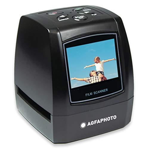 AGFA PHOTO Realiview AFS100 - Scanner Numérique de Films, Négatifs 35mm/135 et Diapositives (10MP, Écran LCD 2.4'') Noir