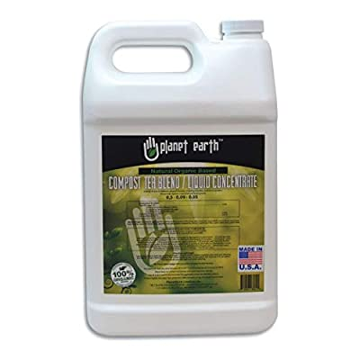 Planet Earth Natural Organic Based Compost Tea. The Ultimate Organic Fertilizer - Triple Filtered Liquid hydroponic Nutrient (Gallon)