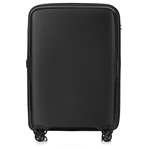 Tripp Black Escape Medium 4 Wheel Expandable Suitcase