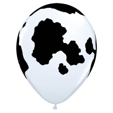 12 Cow Print Balloons - Made in USA