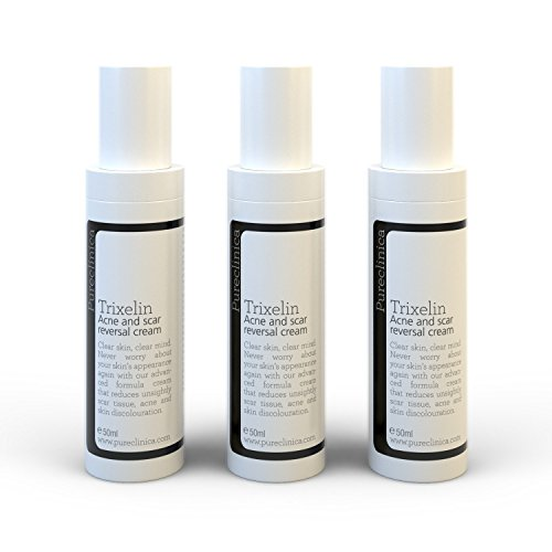 Trixelin Acne and Scar Cream 50ml x 3 bottles. Generates new, perfectly smooth skin to reduces even the oldest of scars by up to 80%. SKU: TARx3