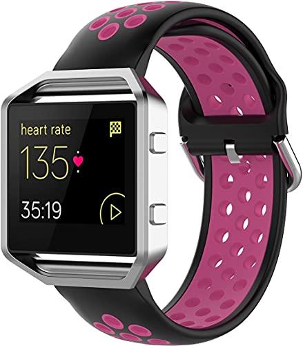 Gransho Correa de Reloj Reemplazo Compatible con Fitbit Blaze, la Correa de Reloj Watch Band Accessorios (Pattern 12)