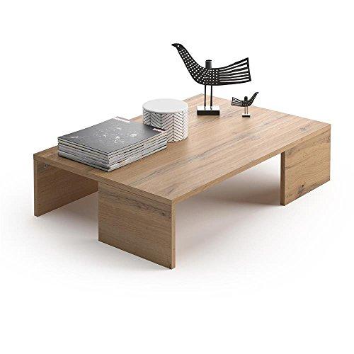 Mobili Fiver, Mesa de Centro, Modelo Rachele, Color Madera Rústica, 90 x 60 x 21 cm
