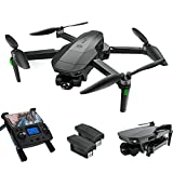 Drones with Camera for Adults 4K, LARVENDER SG907 3-Axis Gimbal Drone with Camera, 5G FPV Quadcopter Live Video, 2 Batteries 50Mins Flight Time GPS Auto Return Home, Drones for Kids with Carrying Case