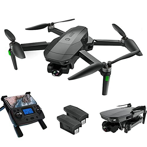 Drones with Camera for Adults, LARVENDER SG907 3-Axis Gimbal Drone with 4K Camera, 5G FPV Quadcopter Live Video, 2 Batteries 50Mins Flight Time GPS Auto Return Home, Drones for Kids with Carrying Case