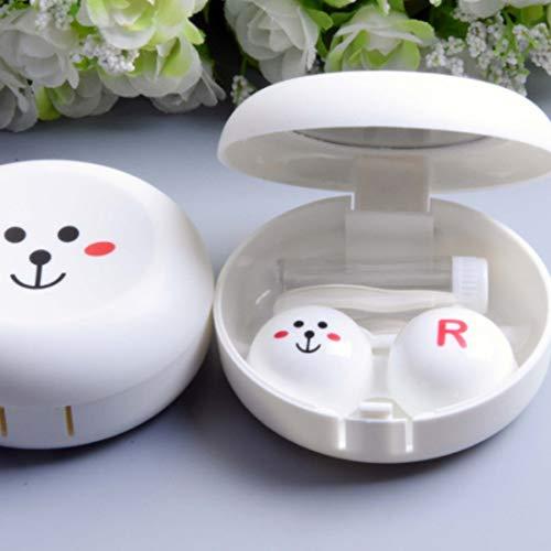 vbncvbfghfgh Schöne Cartoon Tier Muster Gläser Kontaktlinsen Box Für Augenpflege Reisen Kit Halter Container Tragbare