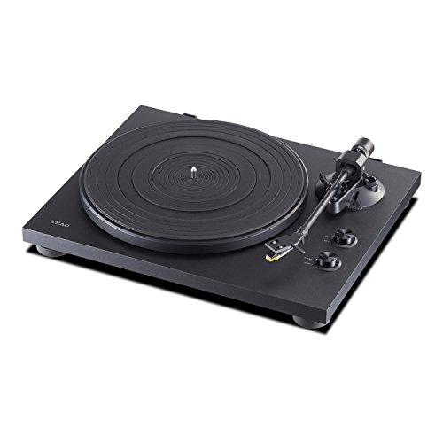 Teac TN-200 (B) HiFi-Plattenspieler (Riemenantrieb, 33/45 Umdrehungen, USB-Ausgang für PC/Mac, Line/Phono-Ausgänge) schwarz