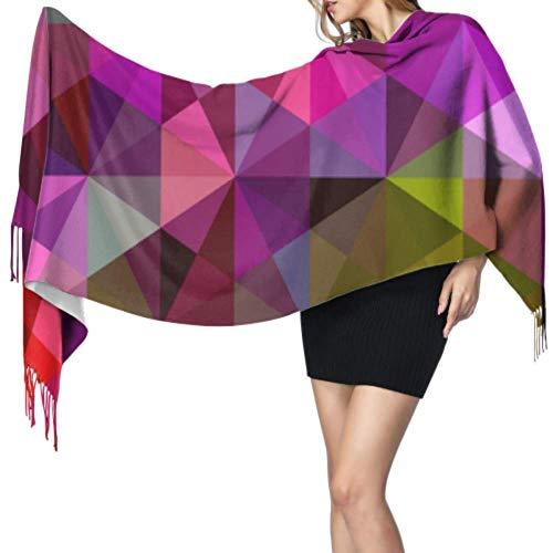 wangluhao Bufandas ligeras para niñas de cachemir de viaje, de estilo triangular, de estilo abstracto, de 196x68cm