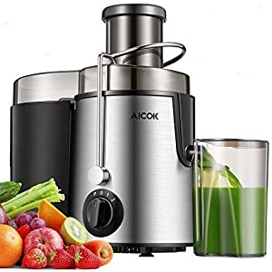 """Juicer Centrifugal AICOK Juicer Machine 3 Speed Mode Wide 3"""" Feed Chute Juice Extractor for Whole Fruit and Vegetables Easy Clean 600W, Stainless Steel Juicer with Pulse Function, BPA-Free"""
