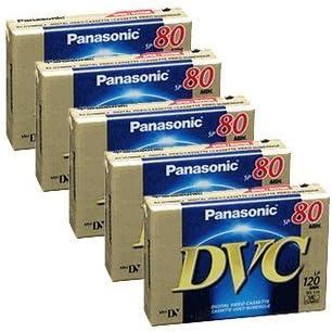 5 Packs Panasonic AY-DVM80EJ MiniDV New Max 78% OFF popularity 80min 120min LP Tape Data