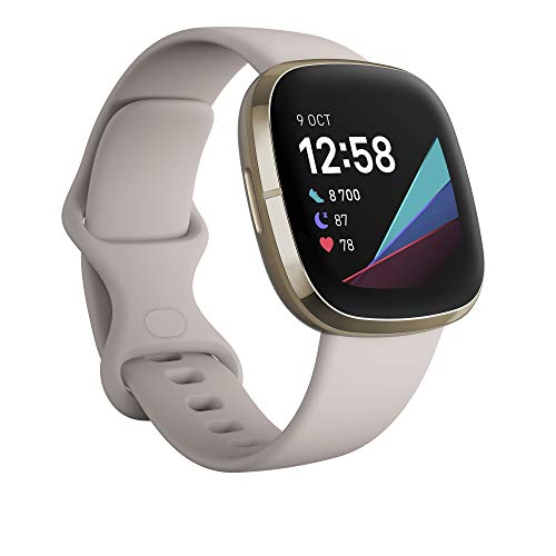 Fitbit Sense Lunar White - Soft Gold Smartwatch...