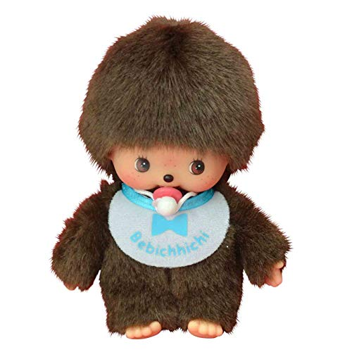 Sekiguchi 235540-Original Bebichhichi niño, de Felpa, Babero, Aprox. 15 cm, Color marrón (235540)