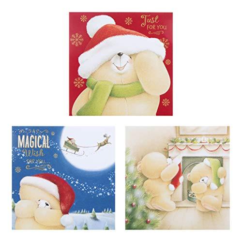 Hallmark 25500544bumper Christmas boxed Cards 'Forever Friends–18carte, 3design, 18 Pezzi