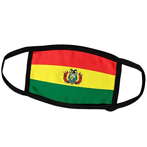3dRose fm_28229_2 Face Mask Medium Gesichtsmaske, Polyester, Flagge Bolivien