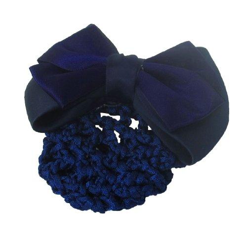sourcingmap Décor Bleu Foncé Bowknot Clip Français Net Snood Chevaux Barrette Dames