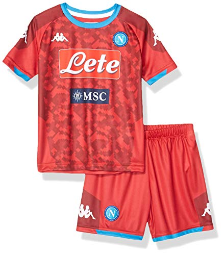 Ssc Napoli Italian Serie A Junior Home Goalkeeper Match Kit, Red, 6 Years