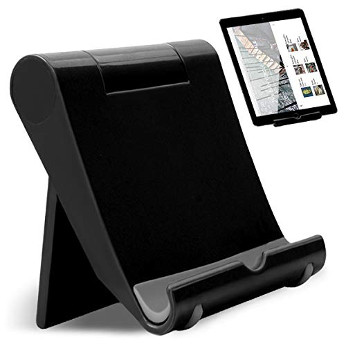 Regolabile Supporto Supporto Tablet Universale Telefono Supporto per Tablet Multi-Angolo Portatile Tablet Multicolore JAANY(Black)