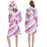BSQLFYBPYMX Albornoz para mujer, diseño de panda unicornio, para adultos, de franela, bata de baño, bata de hombre, bata Kigurumi, pijama de pijama, conjuntos de camisones, batas | - Aliexpress