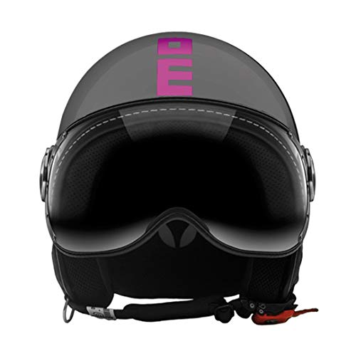 Casco Jet Fighter MOMODESIGN gris brillante Decal Fluo fuxia talla S