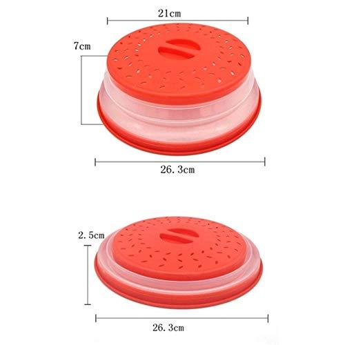 TUOF Microondas Cubierta de Frutas Verduras Colador Colador de Lavadora Cesta Plegable Microondas Tapas Herramientas de Cocina Gadgets