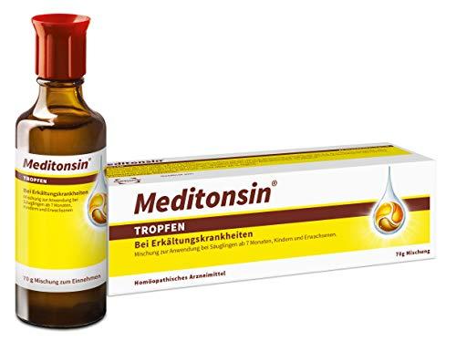 Meditonsin Tropfen – Natürliche Erkältungs-Tropfen, die schon bei den ersten Anzeichen einer Erkältung helfen – 70g