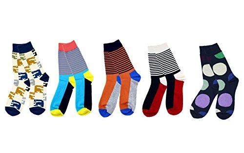 Calcetines Estampados Hombre. Pack de 5 pares. Algodón, cómodos, transpirables.
