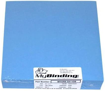 Ocean Blue Grain 9 x half Brand Cheap Sale Venue 11 100pk Index Binding Covers Allowance