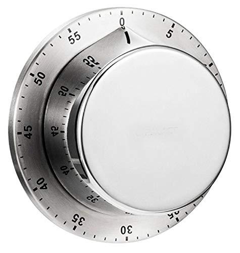 アビー キッチンタイマー マグネット 強力磁石吸着 簡単に使う片手で使えます 電池不要 最大設定60分 使用中に調整可能