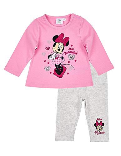 Minnie Ensemble Legging et T-Shirt bébé Fille Rose/Gris de 3 à 24mois - Rose/Gris, 12 Mois