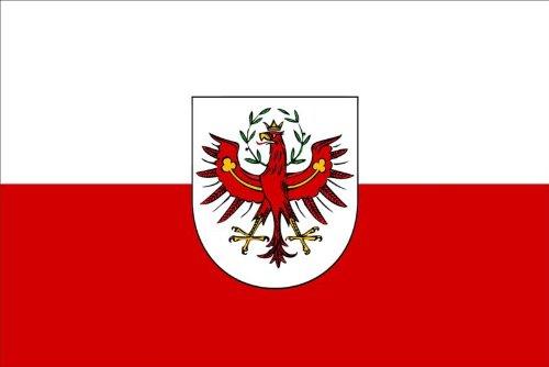 Michael & Rene Pflüger Barmstedt 8,4 x 5,4 cm Autoaufkleber Fahne von Tirol Österreich Flaggen Sticker Aufkleber fürs Auto Motorrad Handy Laptop indoor/outdoor