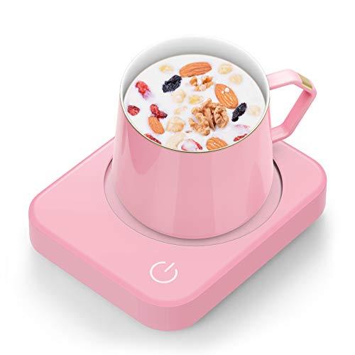 Smart Mug Warmer, ANBANGLIN Coffee Mug Warmer for Desk with Auto Shut Off, Coffee Cup Warmer for Coffee Milk Tea, Candle Warmer (Pink-NO MUG)