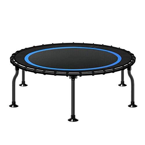 LY 40' Faltbare Mini-Trampolin for Kinder oder Erwachsene, Indoor-Fitness Rebounder Trampolin mit Sicherheits-Auflage, 300 kg Last (Farbe : Blau)