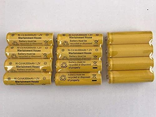 Tamaño de 12 Piezas 1 2V AA (300/600 / 800mAh) o AAA (600mAh / 800mAh) y luz Solar y Dispositivos solares Batería Recargable NI-CD/NI-MH (1 2V AA 800MAH NI-MH)-AA 1.2V 300mAh Ni-CD