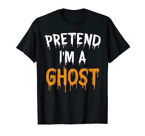 Divertido disfraz de Halloween perezoso regalo pretender soy un fantasma Camiseta