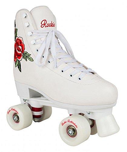 Rookie Rosa Rollschuhe, Weiß