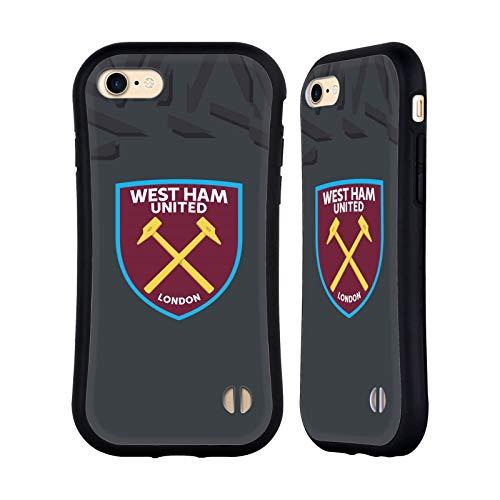 Head Case Designs Licenciado Oficialmente West Ham United FC Tercer Portero Kit de Cresta 2019/20 Carcasa híbrida Compatible con Apple iPhone 7 / iPhone 8 / iPhone SE 2020