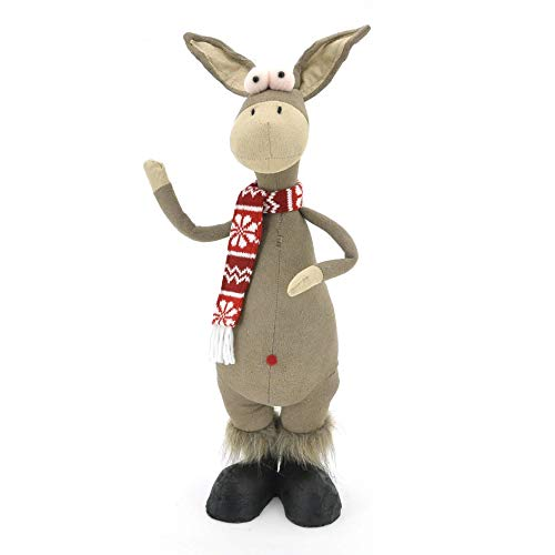 wohnfuehlidee Stoff-Dekofigur Esel The Donkey, Farbe Multicolor, 17x52x12 cm