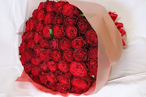 【生花花束】本数選べる 赤いバラ 1本〜999本 赤バラ 最高級薔薇 トップローズ プレゼント プロポーズ 誕生日 母の日 ギフト 還暦祝い【情熱】【永遠の愛】【一生愛してます】 (10本, かすみ草あり)