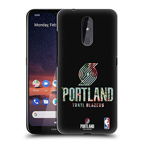 Officiële NBA Bloemen 2019/20 Portland Trail Blazers Hard Back Case Compatibel voor Nokia 3.2