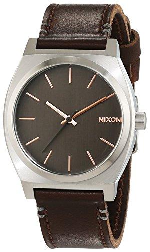 Nixon Damen-Armbanduhr Time Teller Gray/Rose Gold/Brown Analog Quarz Leder A0452066-00