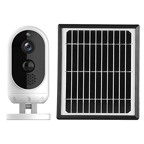 Redxiao Surveillance Monitor, 3D Dryness 3.2W Solar Panel Waterproof Wifi 1080P HD Security Camera, for Home Yard Supermarket Anti-theft Pet Dog Baby Old Caring(white)