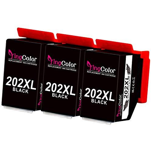 YINGCOLOR - Cartucho de tinta compatible con Epson 202XL, 202 XL, para Epson Expression Premium Xp-6000 Xp-6005 Xp-6001 y Xp-6100 (3 paquetes)