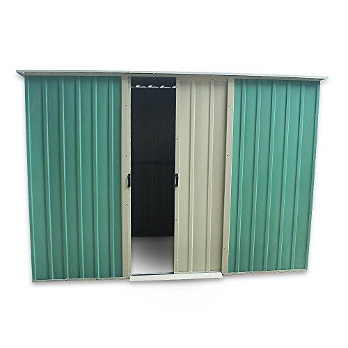 furniture-uk-shop 6 x 4ft Metal Garden Apex Roof Storage Shed