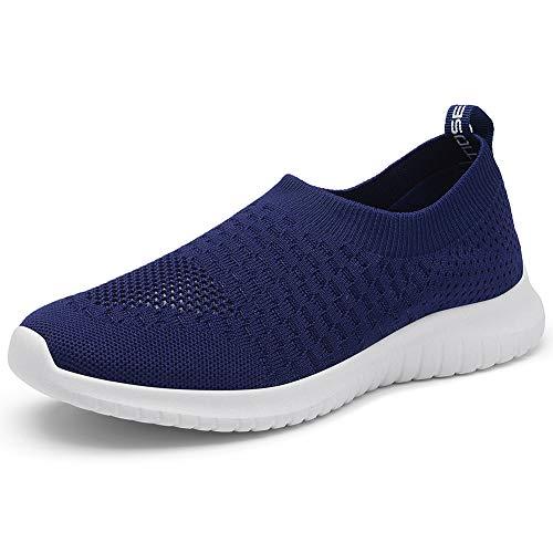 TIOSEBON Women's Walking Shoes Lightweight Breathable Yoga Travel Sneakers 8.5 US Navy