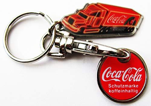 Coca-Cola - Schlüsselanhänger mit Truck & Einkaufschip - EKW