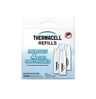 Thermacell Fuel-Only Refills for Mosquito Repellers  Includes 4 Cartridges for 48-Hour Runtime  Compatible With all Fuel-Powered Thermacell Mosquito Repellers  Repellent Mats Not Included