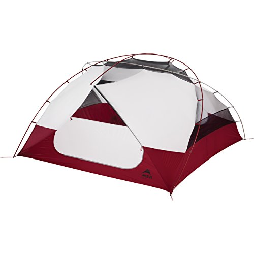 MSR Elixir 4 4Person (S) Grey, Red Group Tent – Camping Zelt (4 Person (S), 4 Person (S), Hard Frame, Detachable Ground Cloth, Group Tent, Backpacking)