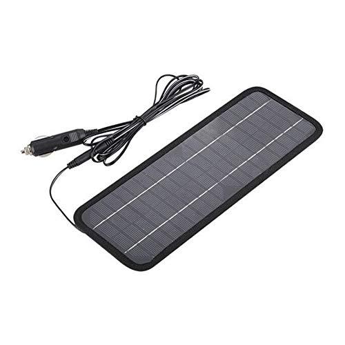 Glomixs Portable Solar Panel 12V 5W Sistema de Cargador de batería Mantenedor portátil Marine Boat Car Nuevo Solar Panel